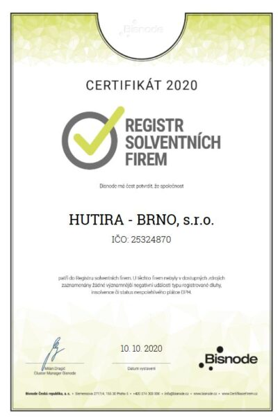 Rating AAA pro HUTIRA – BRNO